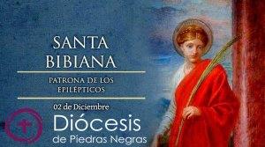 Hoy es la fiesta de Santa Bibiana