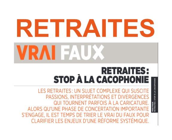 Dossier retraites : Stop à la cacophonie