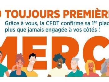 Permalink to: LA CFDT TOUJOURS PREMIÈRE DANS LE PRIVÉ ! Merci !