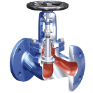 Bellow sealed stop valves