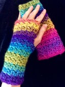 Diamond Tweed Wristwarmers