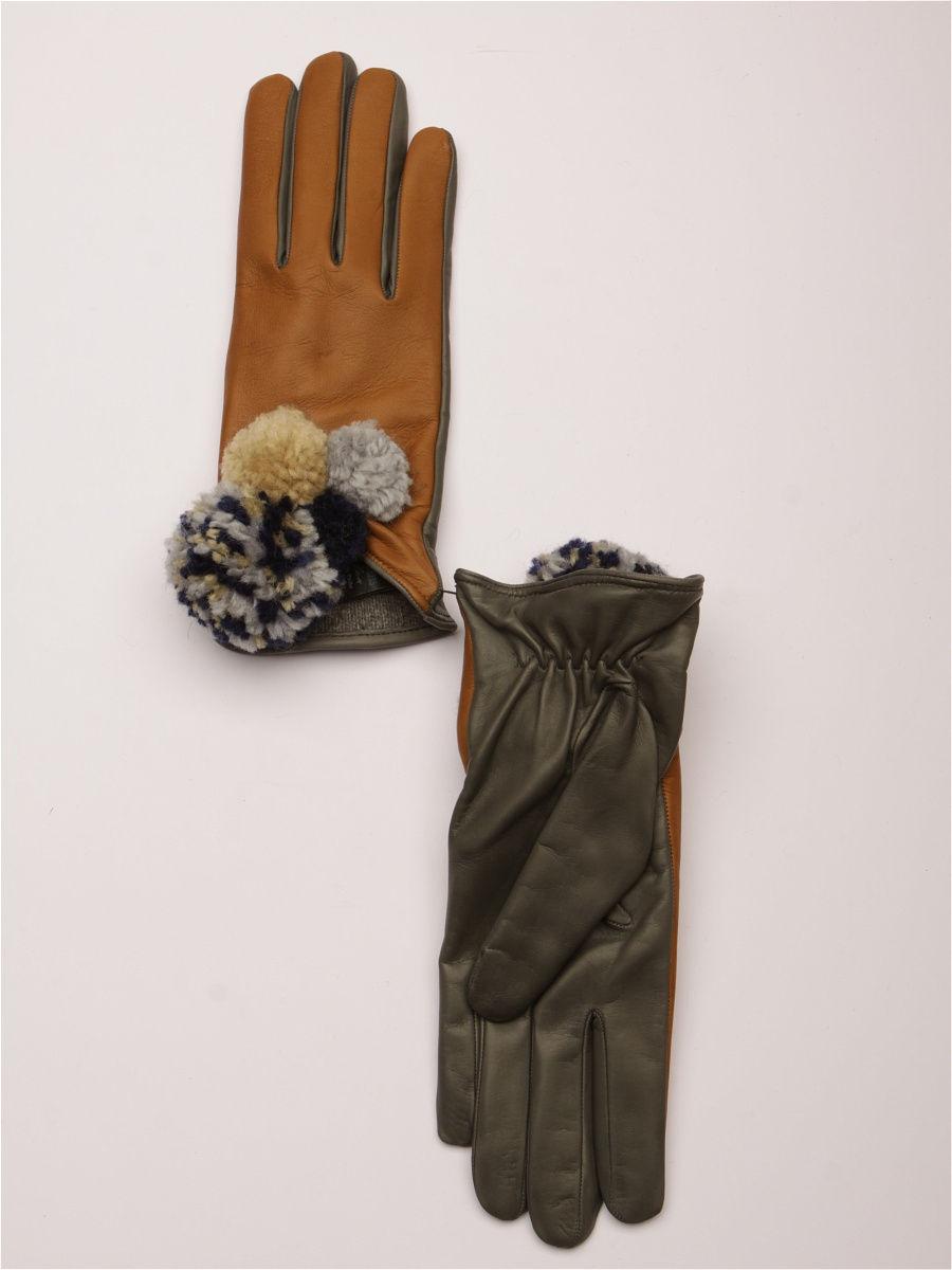 женские перчатки коричневые