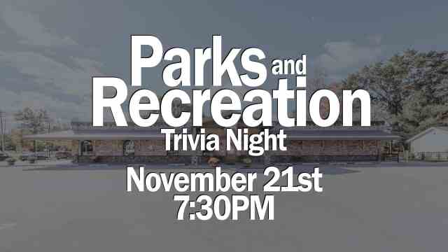 Join us for Team Trivia themed around the popular TV show, Parks and Recreation!