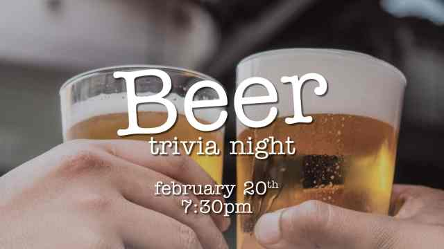 Join us for a trivia night themed around the world of beer!