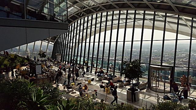 Sky Garden – 360 degree view of London