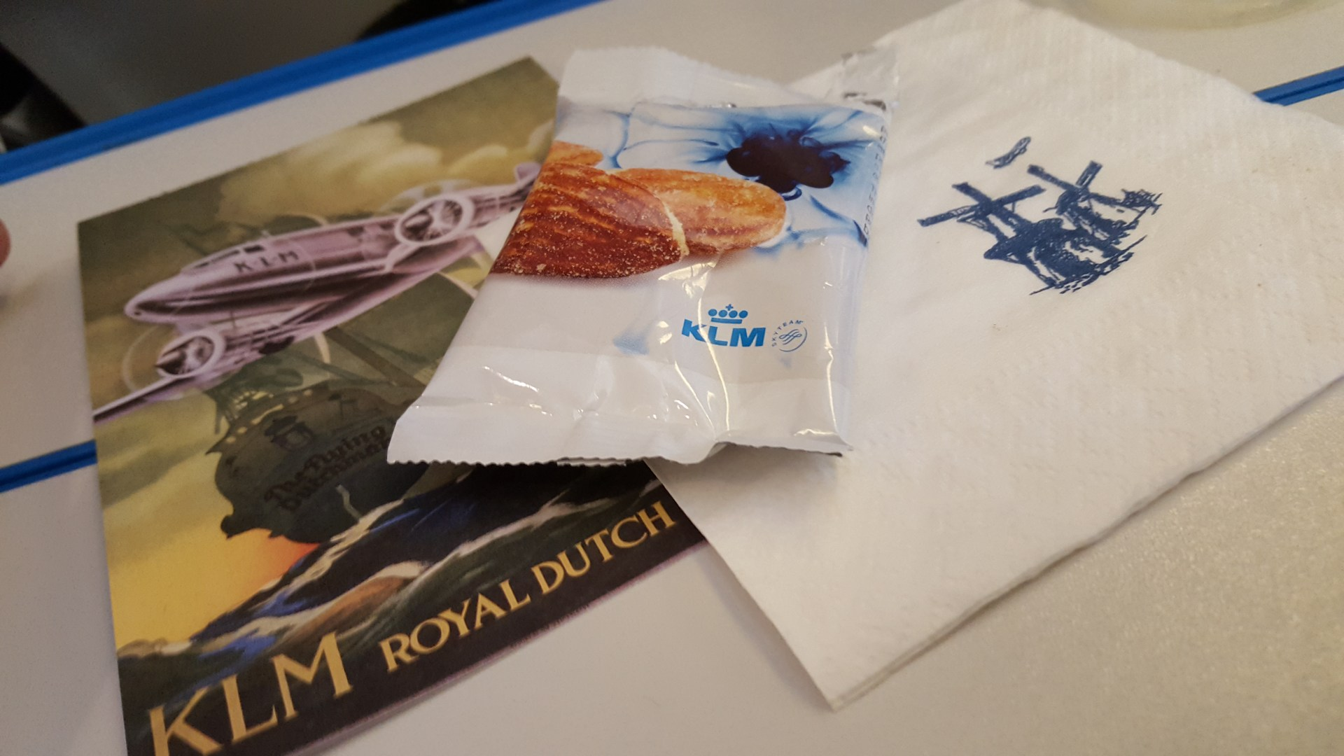 Brazilian menu at KLM flights: Sao Paulo – Amsterdam