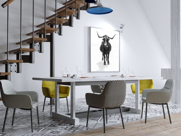 'The Bull' Giclée Photographic Print by Andrew Lever