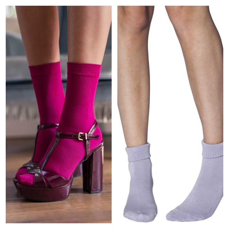 Ladies' Bamboo Socks Bundle 2 | Autumn Combo – A package with 2 pairs of Elle Bamboo Ankle Socks with Cushion and 1 pair of Colour Bust Bamboo socks by Sock Shop