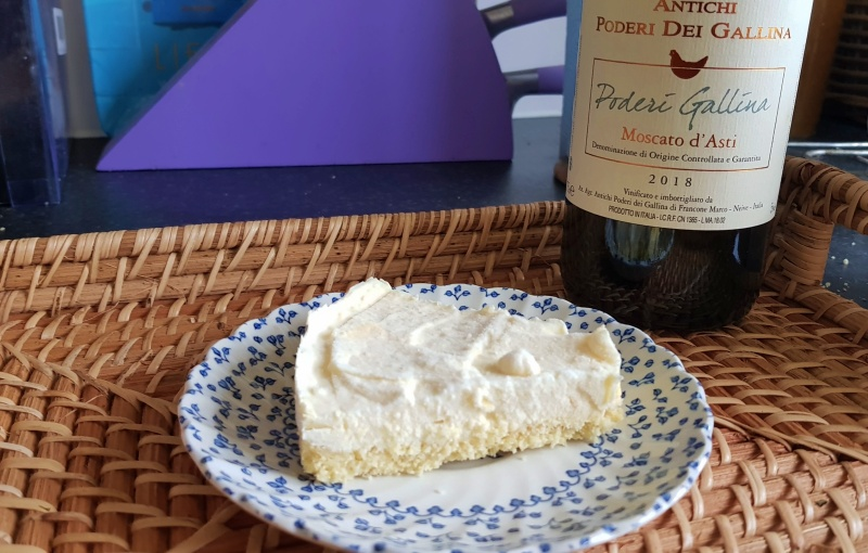 Pairing Wine & Food # 2 | Francone's Sparkling Muscat + Lemon Cheesecake