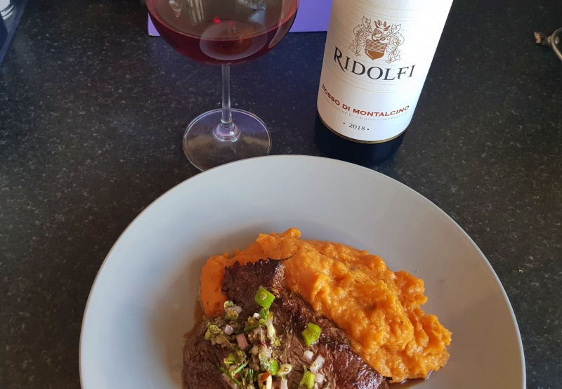Pairing Wine & Food # 3 | Ridolfi Rosso Di Montalcino + Tenderloin Steak & Sweet Potato Mash