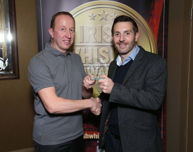 Pictured at the Irish Whiskey Awards 2016 which took place in the Tullamore Distillery Visitor Centre recently (20th October 2016) were Ally Alpine and Barry Fitzpatrick of Irish Distillers Pernod Ricard, who was awarded a Gold Medal for Jameson The Blender's Dog in the Irish Blended Whiskey (RRP of more than €60) category For further information please contact O'Leary PR 01-6789888