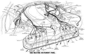 confusing '66 dash problems  Ford Mustang Forums : Corral