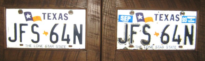 Texas License Plates by Mid-Life Blogger