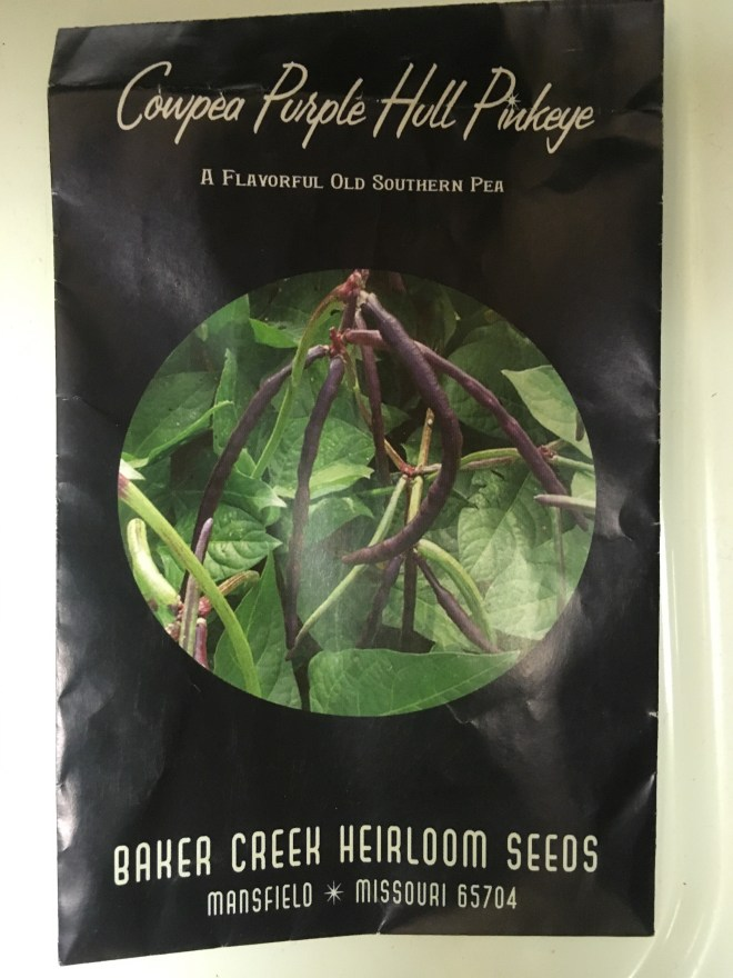 Purple Hull Pinkeye Cowpeas Seed Packet