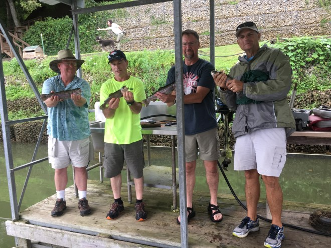 Happy Fishermen at Cedarwood Lodge