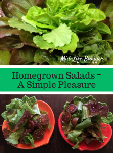 Homegrown Salads ~ A Simple Pleasure