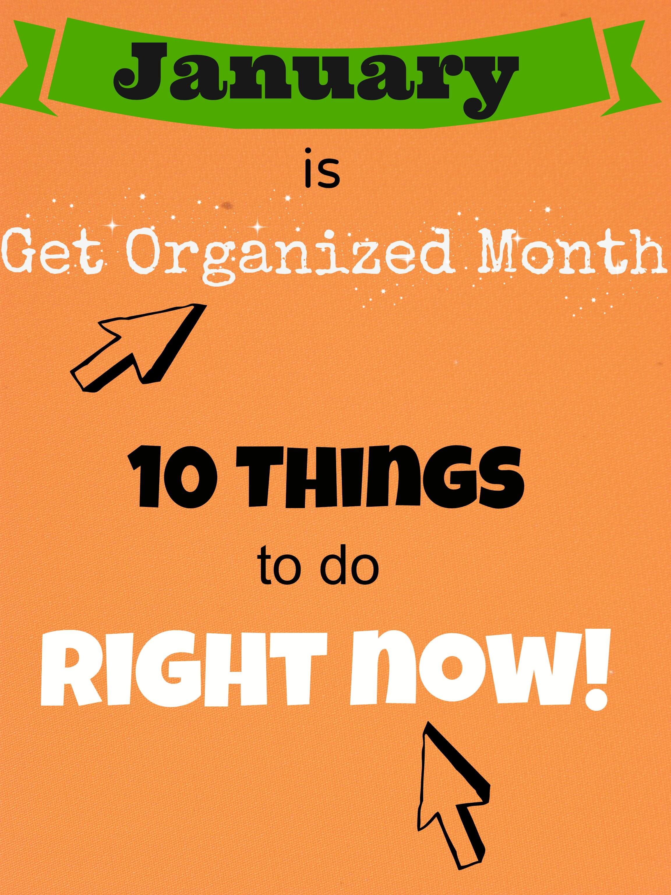 how to get organized at home quick