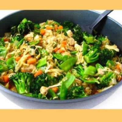 Delicious and Lo-Cal Chicken and Veggies Stir Fry
