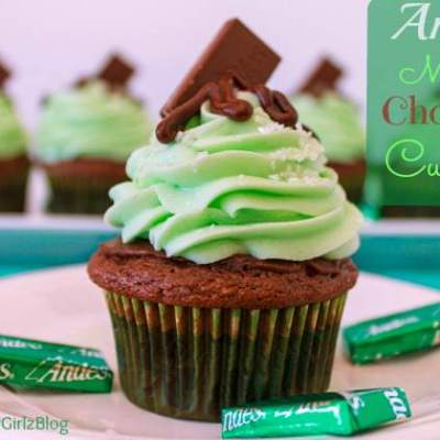 Andes Mints Chocolate Cupcakes