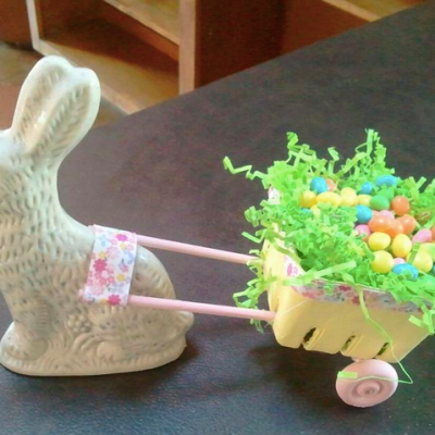 Bunny Cart Centerpiece You Can Make for Easter