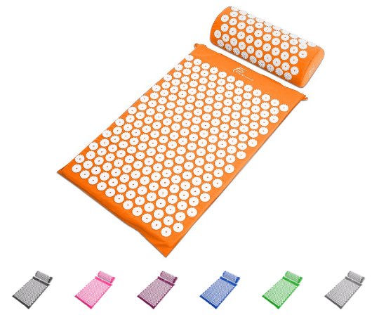 Acupressure mat may relieve headaches, menstrual cramps, and aid in exercise recovery.