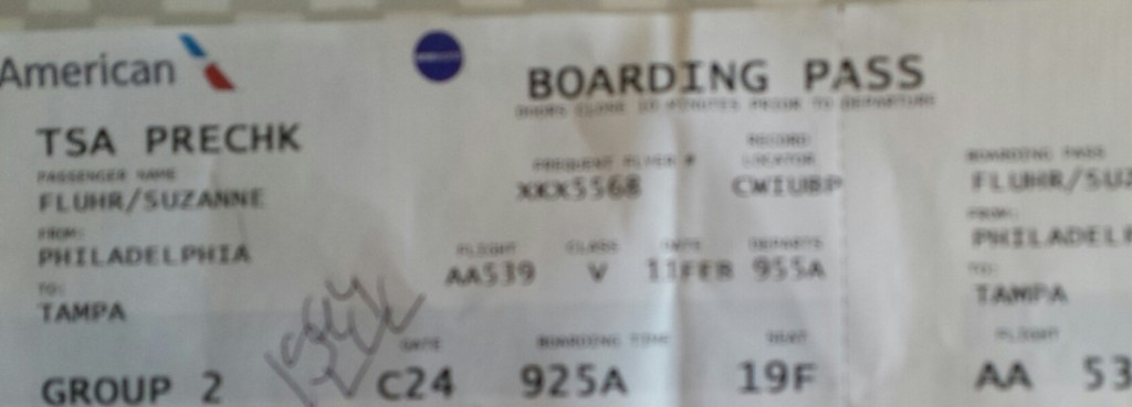 TSA PreCheck on boarding pass