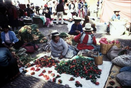 The food and artisan market at Pisac
