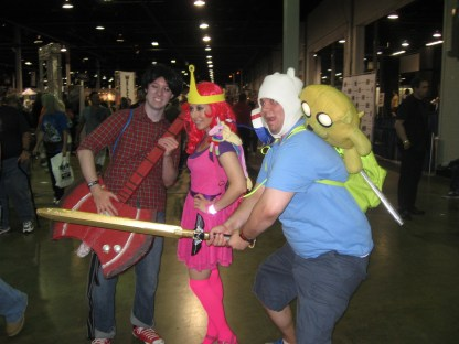 """August 11th: Cosplayers at Wizard World Chicago included these dedicated representatives of """"Adventure Time""""."""