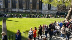 Queues for Easter Sunday service