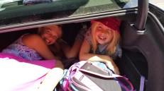 Hiding in the car boot