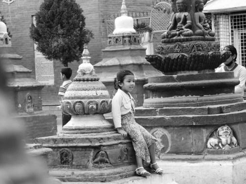 Girl at Temple - Kathmandu