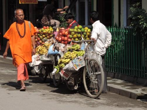 Street hawkers selling fruit