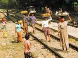 Track side vendors