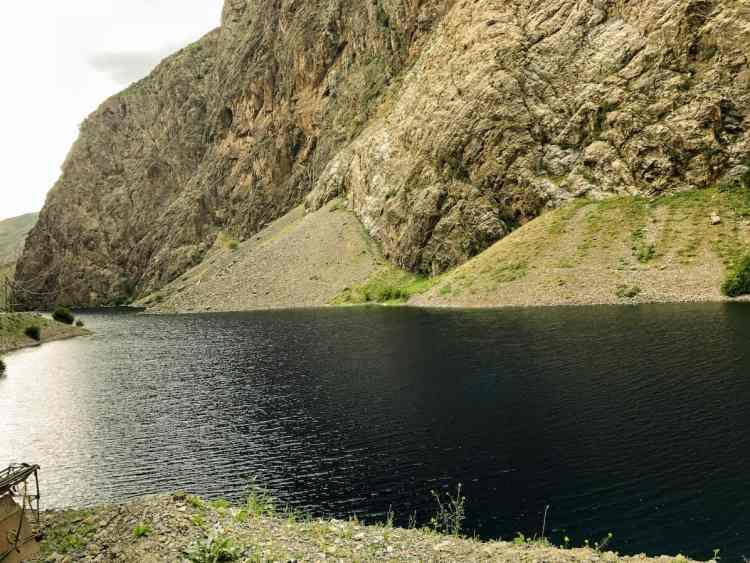 Deep blue lake, one of Tajikistan's seven lakes
