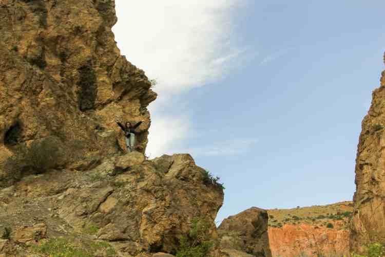 Hiking around the Fann Mountains near Iskanderkul Lake in Tajikistan