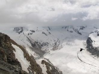 snow above Zermatt