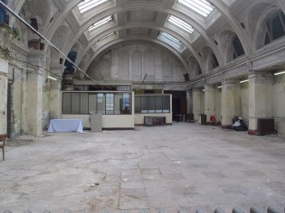 Harland and Wolff drawing office, present day, after years of neglect