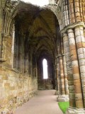 Surviving wooden beams in Whitby Abbey