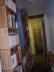 Wine crate book cases
