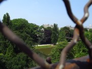 view from a park in paris