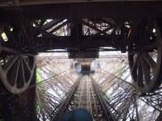 going down the eiffel tower paris