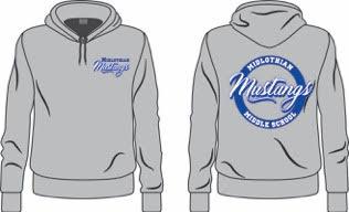Midlothian Middle School Grey Hoodie