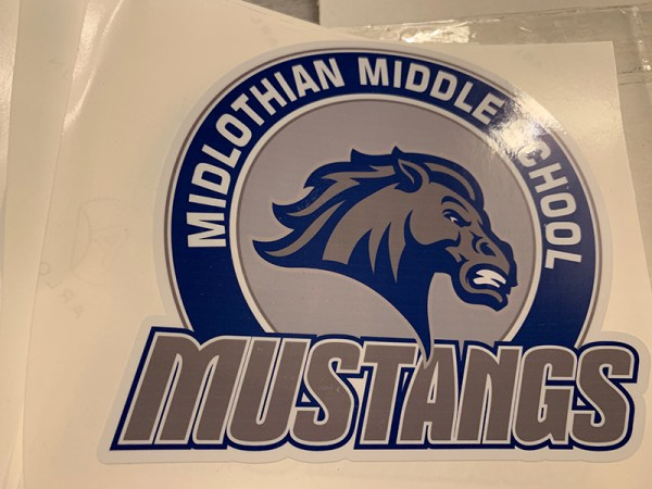 Midlothian Middle School Window Cling