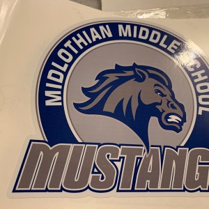 Midlothian Middle School Window Cling