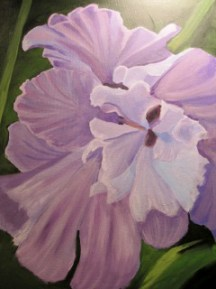 Large purple iris flower.