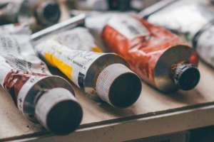 tubes of artist paint