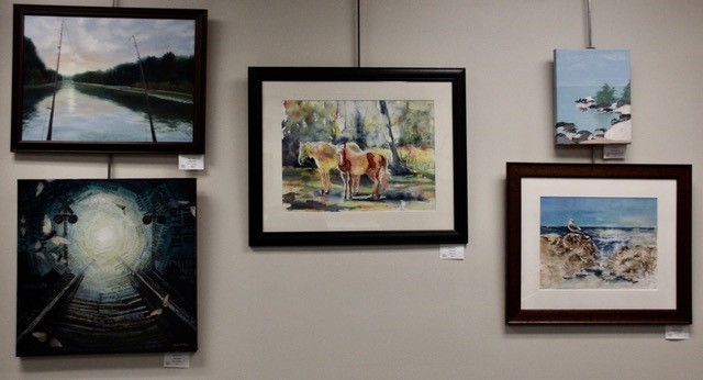 Group of paintings.
