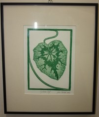 Cyclamen Leaf by Jane Cloutier