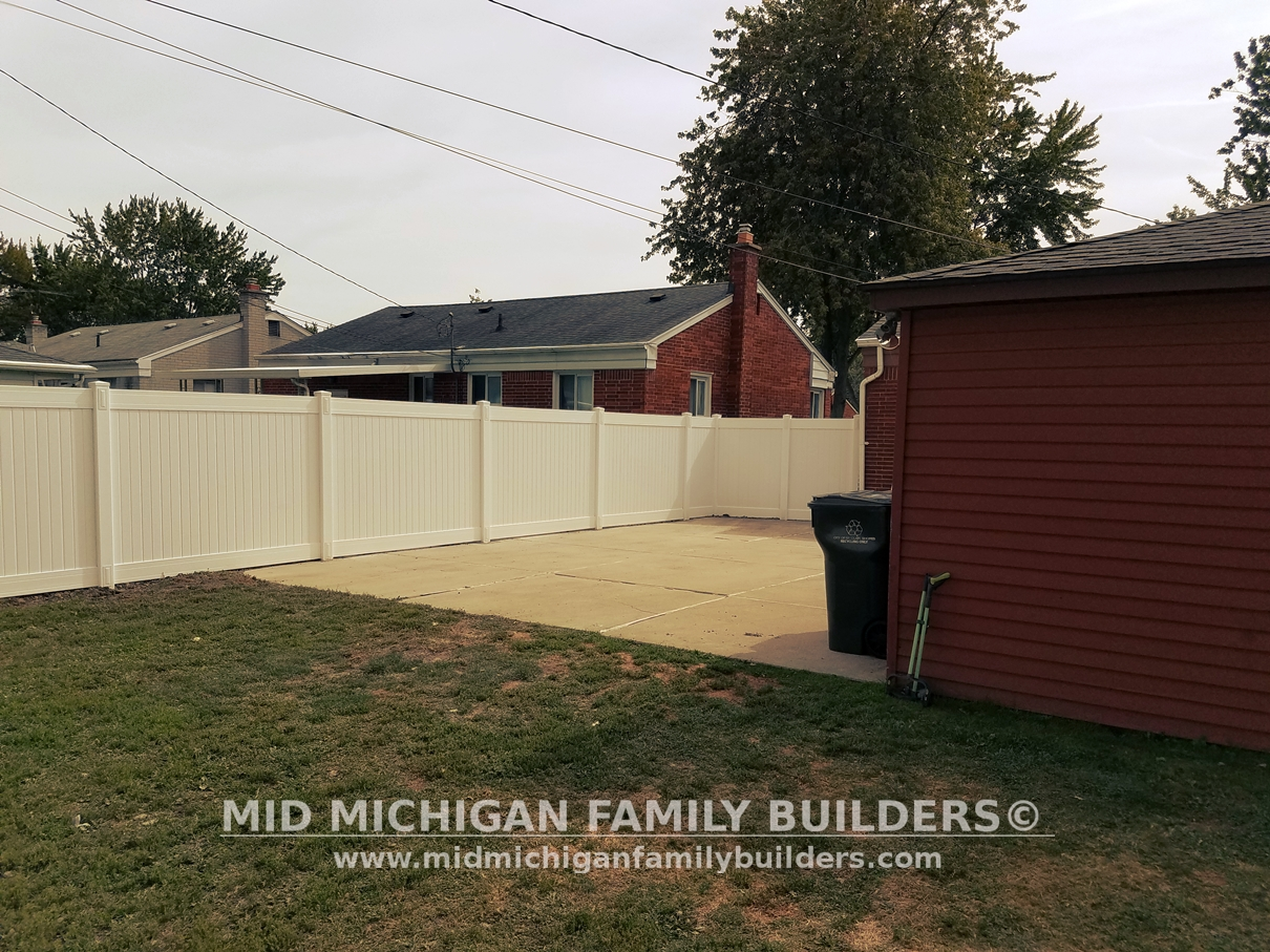 vinyl fence project 08 2017 professional u0026 custom construction