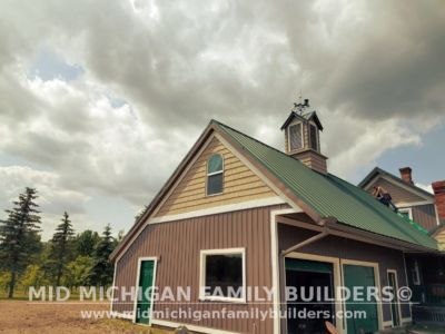 MId Michigan Family Builders Meatal Standing Seem Roof Project 06 23 2018 01
